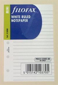 Filofax White Ruled Notepaper Insert