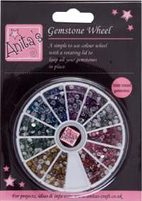 Gemstone Wheel - 12 Colours 3 mm
