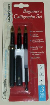 Manuscript - Beginners Calligraphy Set - 3 Nib Set